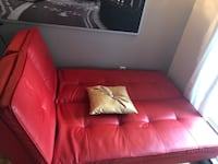 red leather tufted sectional sofa Montréal, H3C