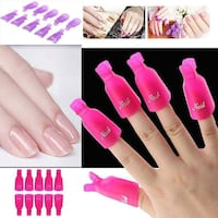 Multiple 10PC Plastic Nail Art Soak Off Clip Cap UV Gel Polish Remover Wrap Tool    Shipping is also available. 1 for $10 or 3 for $20  Different Colours available. Sold in Sets of 10.  SHIPPING IS AVAILABLE FOR A SMALL FEE  BRAND NEW PACKAGES!!!  Theme:  Toronto