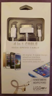 4 in 1 High Speed Cable for Samsung / Apple Phones
