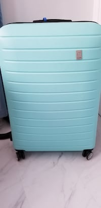 Large Hardshell Luggage with 360 Wheels in Green/Blue null