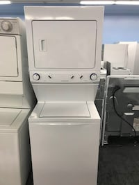 white stackable washer and dryer Toronto, M6H 3L8