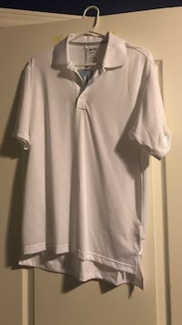 White Adidas golf shirt- small