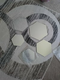 six hexagonal-shaped mirrors Champaign