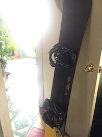 black snowboard with bindings St Thomas, N5P 1G4