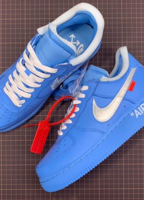 size 40 72c62 6fbab NIKE X OFF WHITE AIR FORCE 1 MCA UNIVERSITY BLUE SIZE 13 US