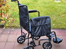 "QUALITY INVACARE 19"" WIDE TRANSPORT WHEELCHAIR FOR SALE"