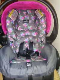 baby's black and pink floral car seat carrier Newport News, 23607