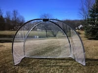 Golf net with hitting mat and chipping net. Like New null