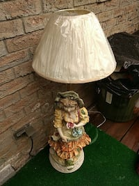 girl wearing orange and white dress table lamp with white coolie lampshade Waterloo, N2L 4Z9