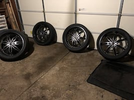 "24"" GM 6 lugs rims"