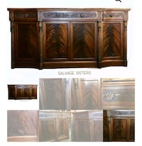 Large Flame Mahogany Buffet