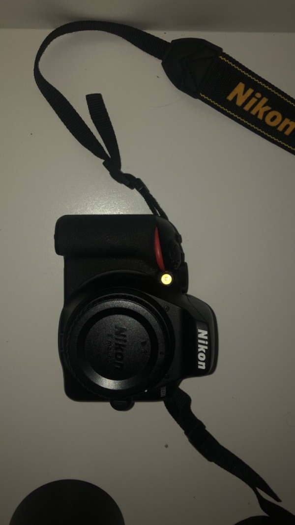 Nikon d3500 with lenses/camera bag and more