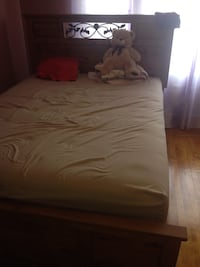 Brown teddy bear and brown comforter ASHELY