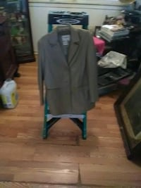 Leather jacket four colors black, white,tan, and gray.one full length