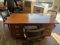 Cira 1950's office desk and chairs