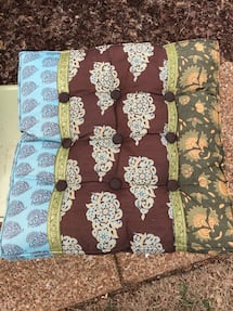 NEW — Boho chair pads —reversible (set of 3)