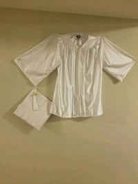 white silk academic gown and hat set 3116 km