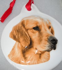 CERAMIC  GOLDEN RETRIEVER ORNAMENTS -GREAT CHRISTMAS GIFT Pawtucket