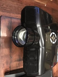 black Alumen LED projector with 8' screen Ontario