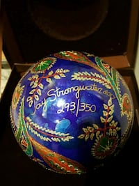 Jay strongwater ornament signed Fox Lake, 60020