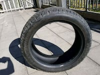 black auto tire with tire Coquitlam, V3E 0C2