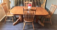 Solid oak table (6 chairs) Mesa