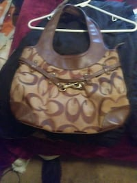brown and black Coach hobo bag Augusta, 30904