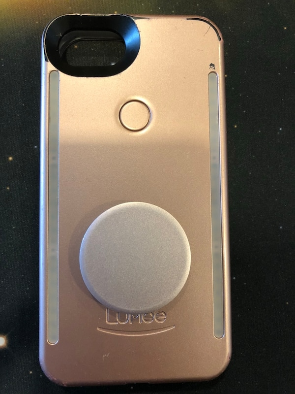 classic fit 4881d e51af iPhone 6/6S Lumee light case w/ popsocket Rose Gold