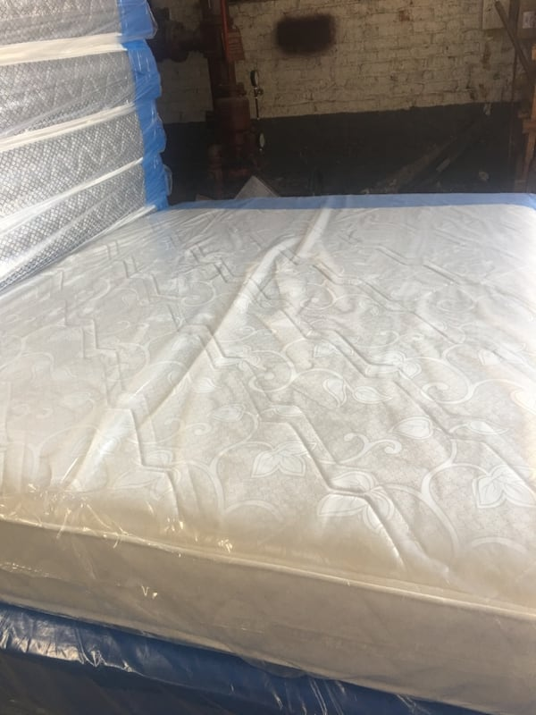 MATTRESS AND BOX SPRING IN SEALED PACKAGING Twin mattress $99, Twin mattress & box spring set $149, Full mattress $149, Full set $199, Queen mattress $199, Queen set $249 2a126a2a-d4fe-4822-b2f7-2aedd5ccc037