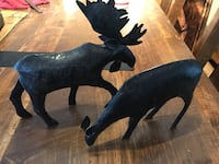 New Iron moose /deer statue, hunting hunter gift idea null, K0A 3H0
