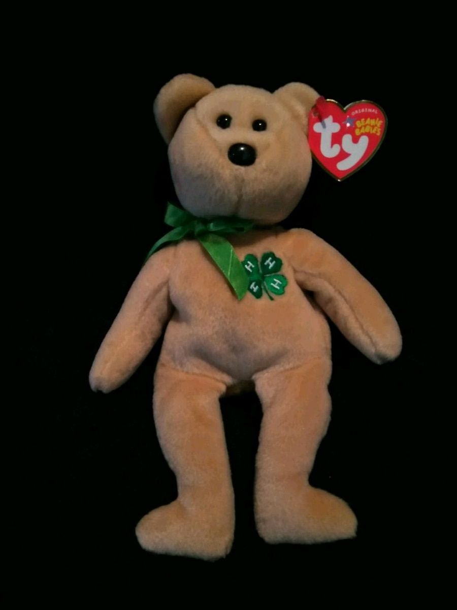 Photo Rare Mint Condition Retired Ty Beanie Babies Clover The Bear 4H Club