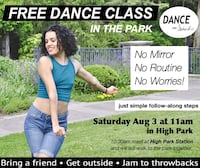 Aug 5 - FREE DANCE CLASS IN THE PARK Toronto