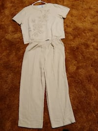 Alfred Dunner 2-Piece Floral Pants & Top Niles