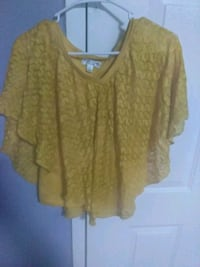 women's yellow blouse Stone Mountain, 30083