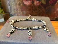 Pretty! Silver Stretch Bracelet with Pink Stones Gainesville, 20155