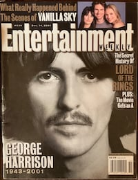 Entertainment Weekly George Harrison Dec 2001 Magazine Lebanon