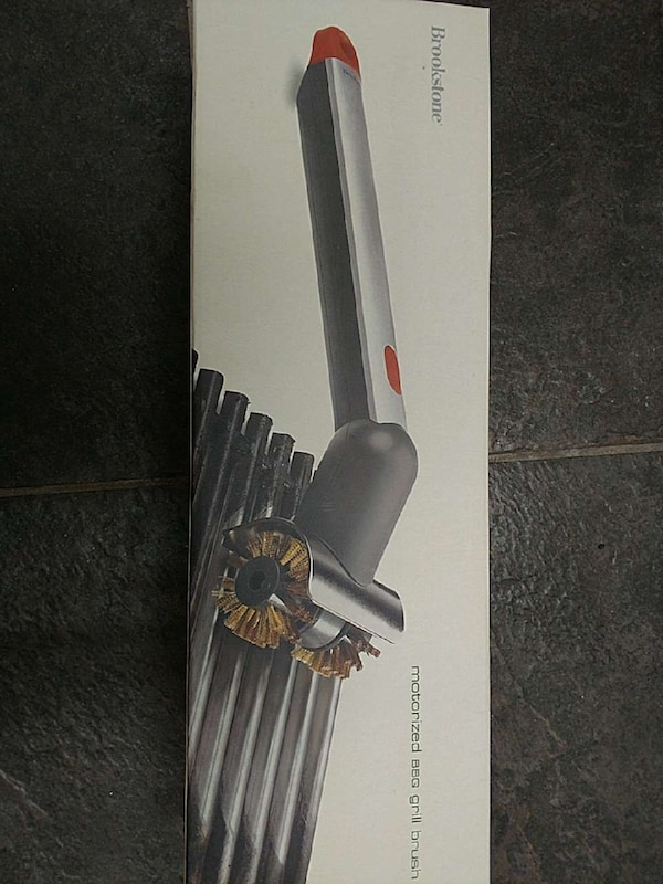 Used Brookstone Motorized Bbq Grill Brush Box For In Surprise Letgo