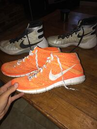 pair of brown-and-black Nike basketball shoes Wallingford, 06492