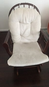 White fabric padded glider chair Chantilly, 20152
