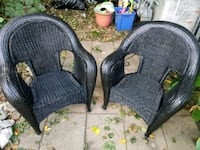 two black wicker armchairs Winchester, 22601