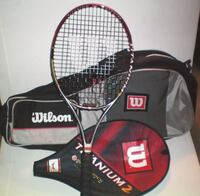 Wilson Titanium 2 Soft Shock Tennis Racquet and Double Tour Tennis Bag London