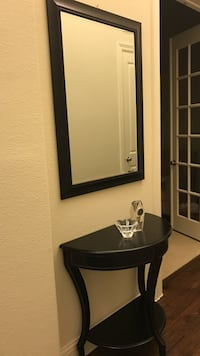 black and white wooden vanity table 1167 mi