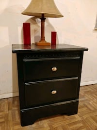 Nice wooden black night stand, both drawers slidin Annandale, 22003