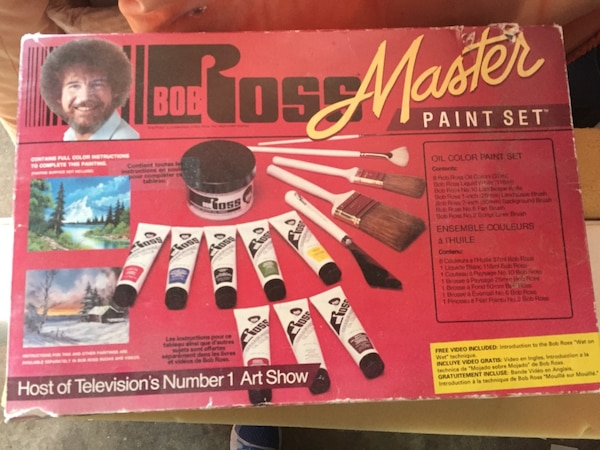 Bob Ross paint set 4d10a43e-09a0-4c44-985c-88e8b75595ef