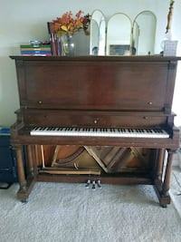 brown wooden upright piano with chair Alexandria, 22311