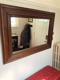 Huge antique teakwood mirror Toronto, M8V 1T6