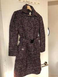 MOVING SALE! NEW! Purple Knit Trench Coat PRICE DROPPED Toronto, M4E 2A9