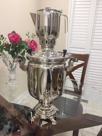 Charcoal Samovar 3 letters with tea pot Stainless Steel excellent conditions Hamilton, L8W