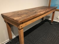 Rustic industrial dining tall top table