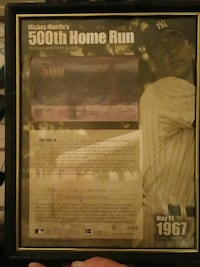 Mike mantles 50th home run certificate of Authenti Winchester, 40391